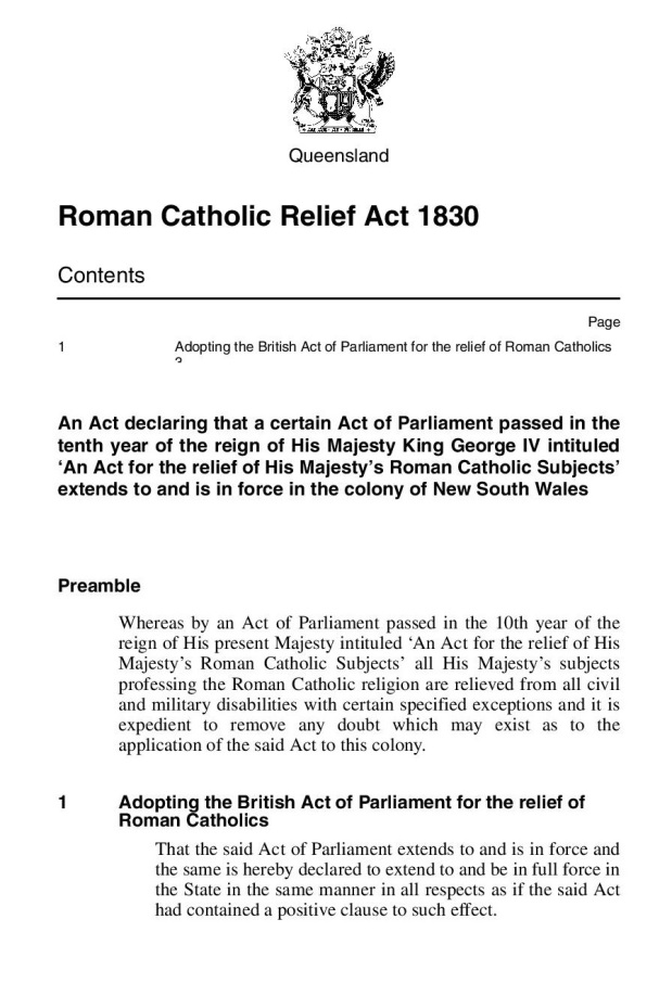 Roman Catholic Relief Act 1830 QLD-page-003