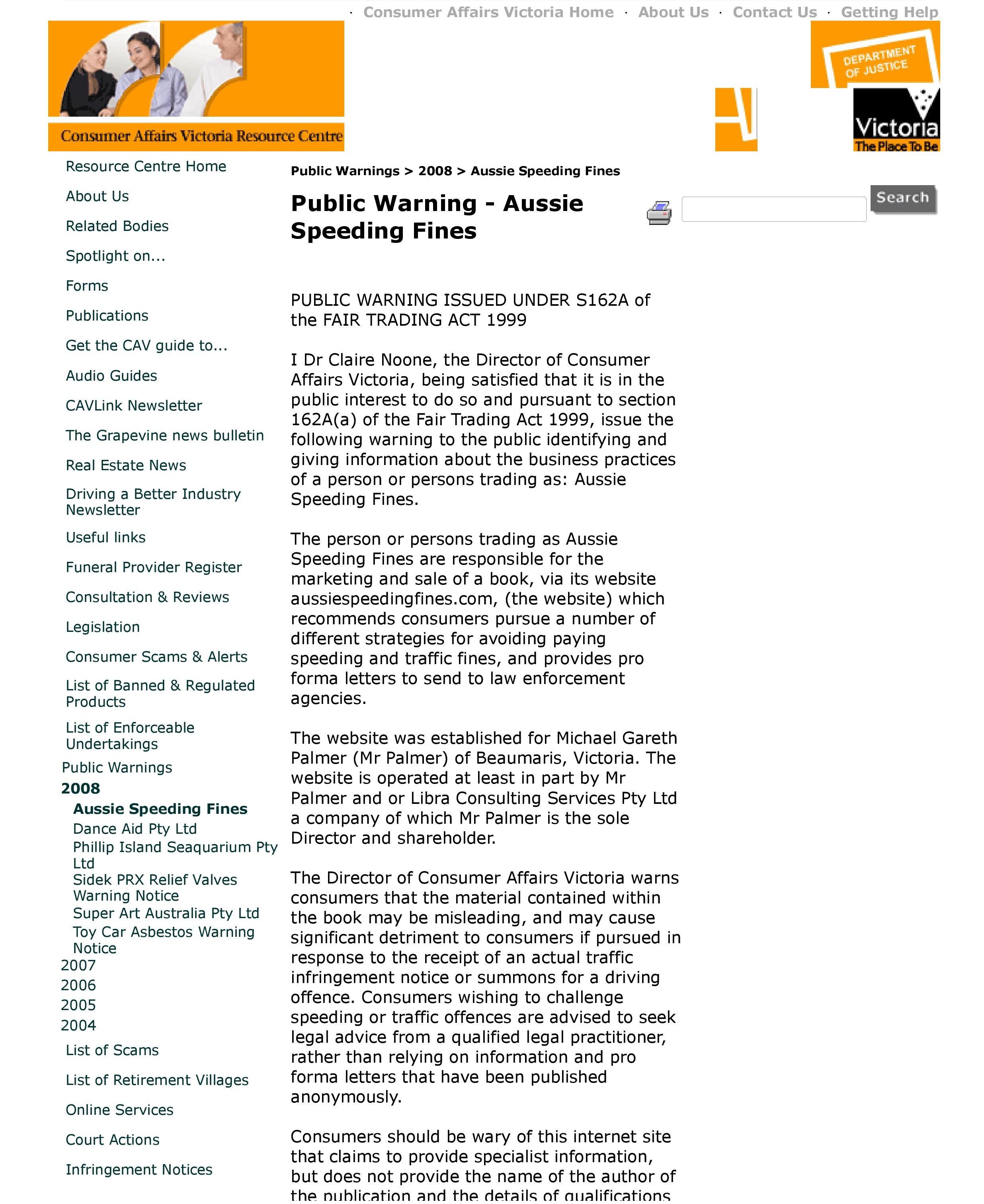 CAV Resource Centre - Public Warnings - 2008 - Aussie Speeding Fines-page-001